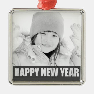 HAPPY NEW YEAR PHOTO ORNAMENT