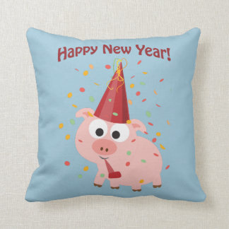 Happy New Year Pig Cushion