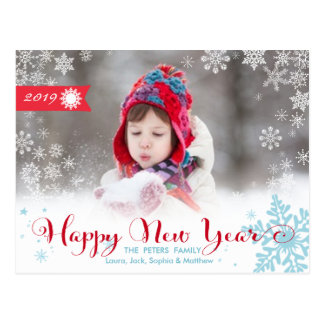 Happy New Year Postcard | Holiday Photo Card