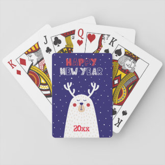Happy New Year/Reindeer Design/Playing Cards