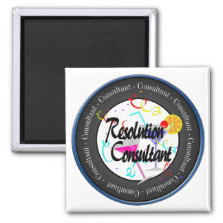 Happy New Year Resolution Consultant Square Magnet