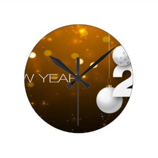 Happy-New-Year Round Clock