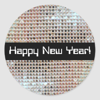 Happy New Year Sequin Sticker