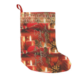 Happy New Year Small Christmas Stocking