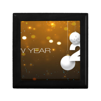 Happy-New-Year Small Square Gift Box