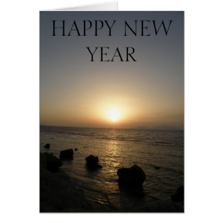 Happy New Year Sunset Card