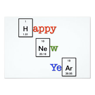 Happy New Year to your chemist friends 13 Cm X 18 Cm Invitation Card