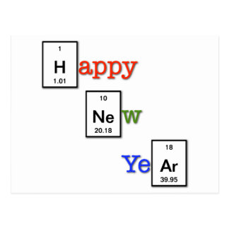 Happy New Year to your chemist friends Postcard