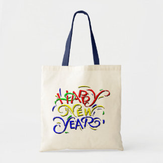 Happy New Year Canvas Bag