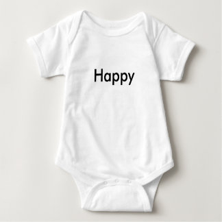 'Happy' New Year Triplet Baby 1 of 3 set Baby Bodysuit