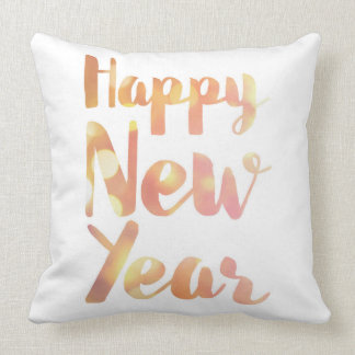 Happy New Year - Watercolor - Square Pillow