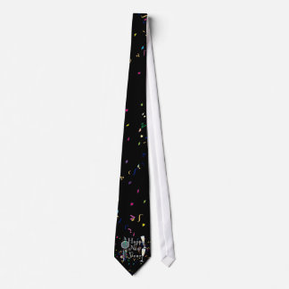 Happy New Year With Champagne & Confetti Tie