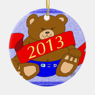 Happy New Year's Bear - 2013 Ornaments