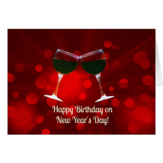 Happy New Year's Day Birthday Card