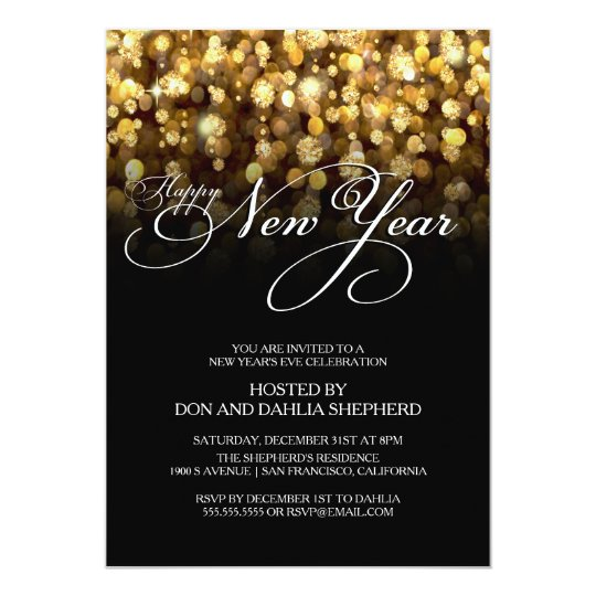 Happy new year 39 s eve party invitation for New year invite templates free