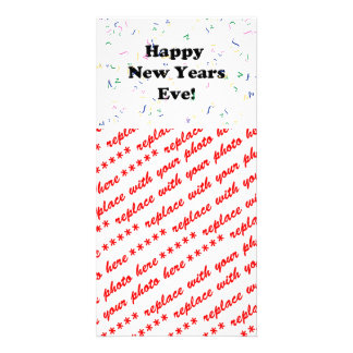 Happy New Year's Eve Customized Photo Card