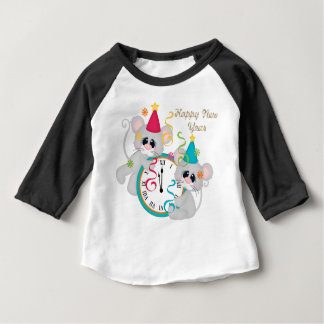 Happy New Year's Mice baby unisex t-shirt