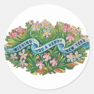 Happy New Years Stickers - vintage design