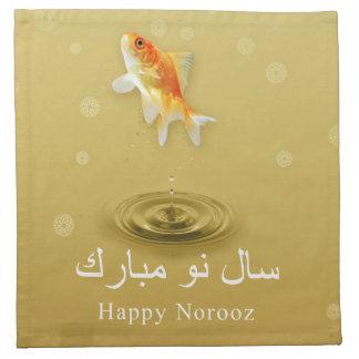 Happy Norooz Fish - Persian New Year Napkin