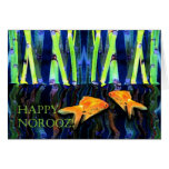 Happy Norooz, Goldfish Swimming Cards