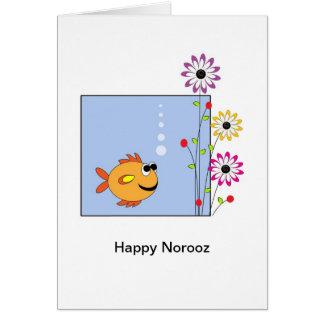Happy Norooz Persian New Year Greeting Card-Fish Card