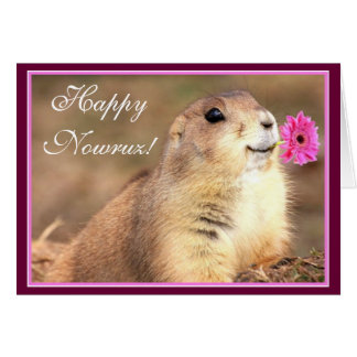 Happy Nowruz prairie dog greeting card
