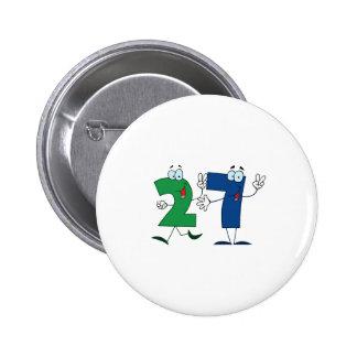 Happy Number 27 6 Cm Round Badge