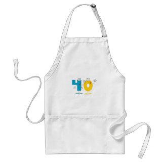 Happy Number 40 Adult Apron