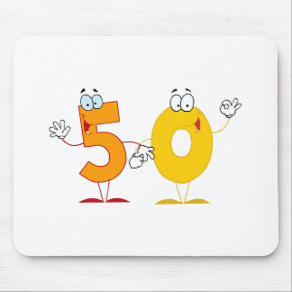 Happy Number 50 Mouse Pad