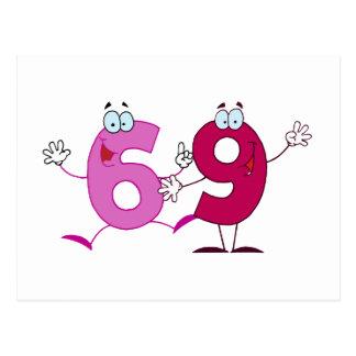 Happy Number 69 Postcard