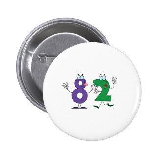 Happy Number 82 6 Cm Round Badge