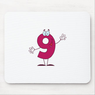 Happy Number 9 Mouse Pad