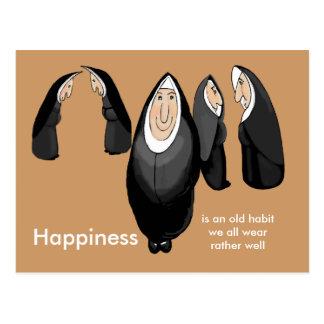 happy nunsense postcard