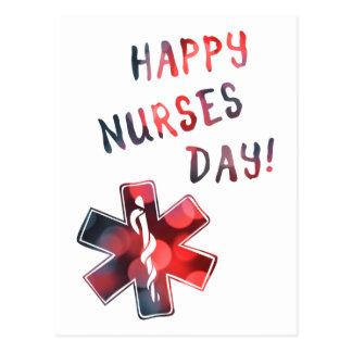 happy nurses day BOKEH Postcard