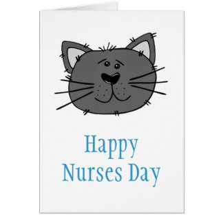 Happy Nurses Day with cat for veterinary nurse Card