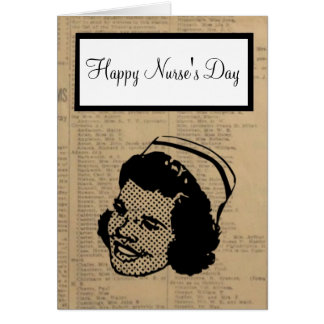 Happy Nurses Day with nurse carrying on tradition Card