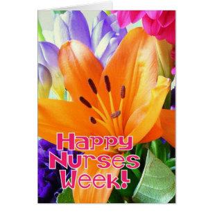 Nurse flower cards invitations zazzle happy nurses week bright colourful flowers card m4hsunfo