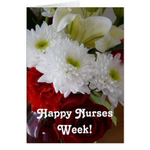 Nurses week celebrations cards invitations zazzle happy nurses week pretty floral bouquet card m4hsunfo Image collections