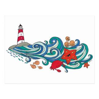 Happy Ocean Creatures Postcard