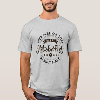 Happy Octoberfest Modern Typography Beer Festival T-Shirt