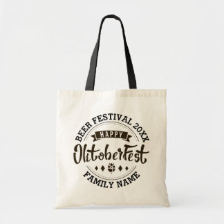 Happy Octoberfest Modern Typography Beer Festival Tote Bag