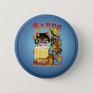 Happy Oktoberfest Beer Kitty Buttons