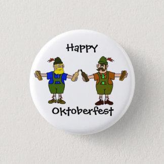 Happy Oktoberfest Button  - Beer & Bratwurst