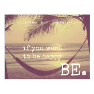 Happy on the Beach Costa Rica Postcard