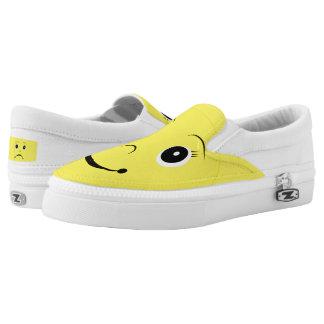 Happy-or-Sad Emoji Women/Men Slip-On Printed Shoes