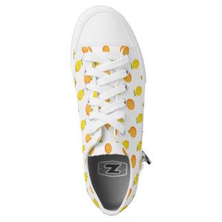 Happy Orange and Lemon Pattern Summer Sneakers