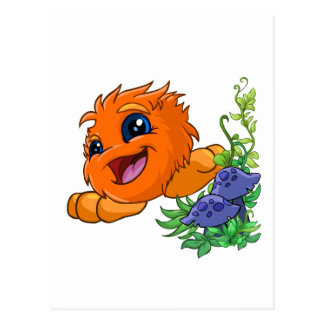 Happy orange JubJub in Neopia Central Postcard