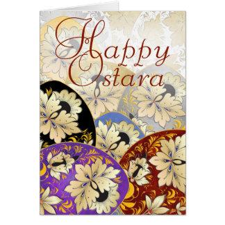 Happy Ostara Egg Card 23 - Russian Folk Art