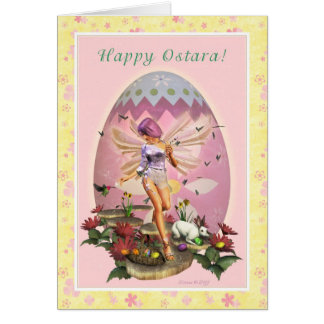 Happy Ostara - Vernal Equinox - Spring Faerie Card