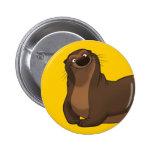 Happy Otter Button